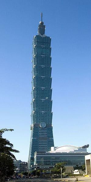 D'une hauteur de 508 m, la Taipei 101 tower à Taiwan est le second gratte-ciel le plus haut du monde