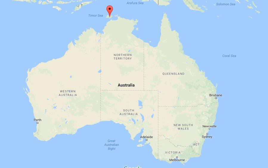 Where are Tiwi Islands on map Australia