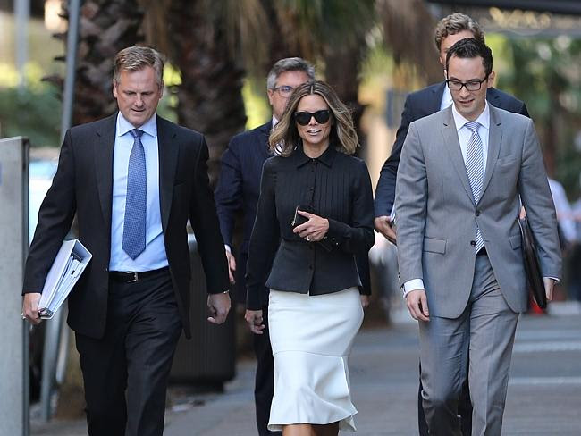 Bianca Rinehart arrives at the Federal courts in Sydney with her legal team / Picture: Jo