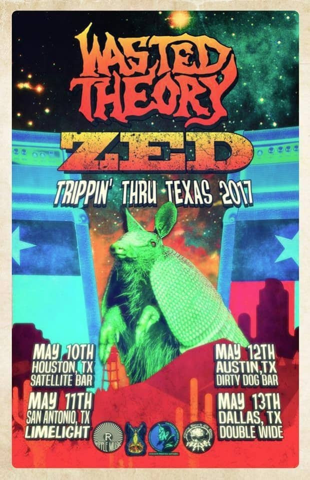 Zed/Wasted Theory Texas Tour Poster