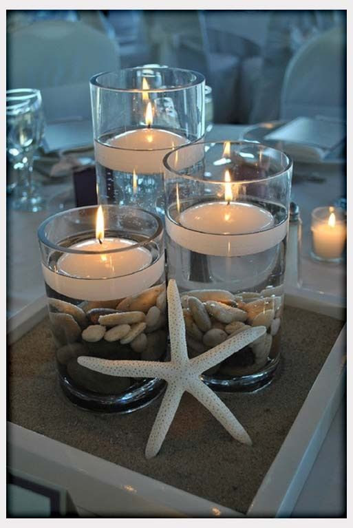 DIY Beach Wedding Centerpieces | Decorations, Beach Wedding Centerpiece Idea DIY: Best Beach Wedding ...