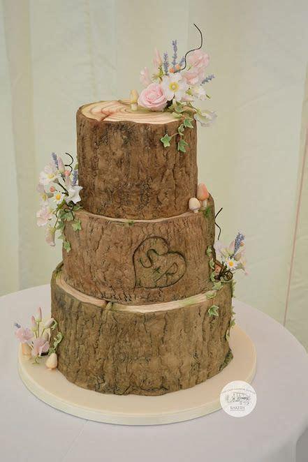 Log wedding cake, log effect wedding cake, 3 tier wedding