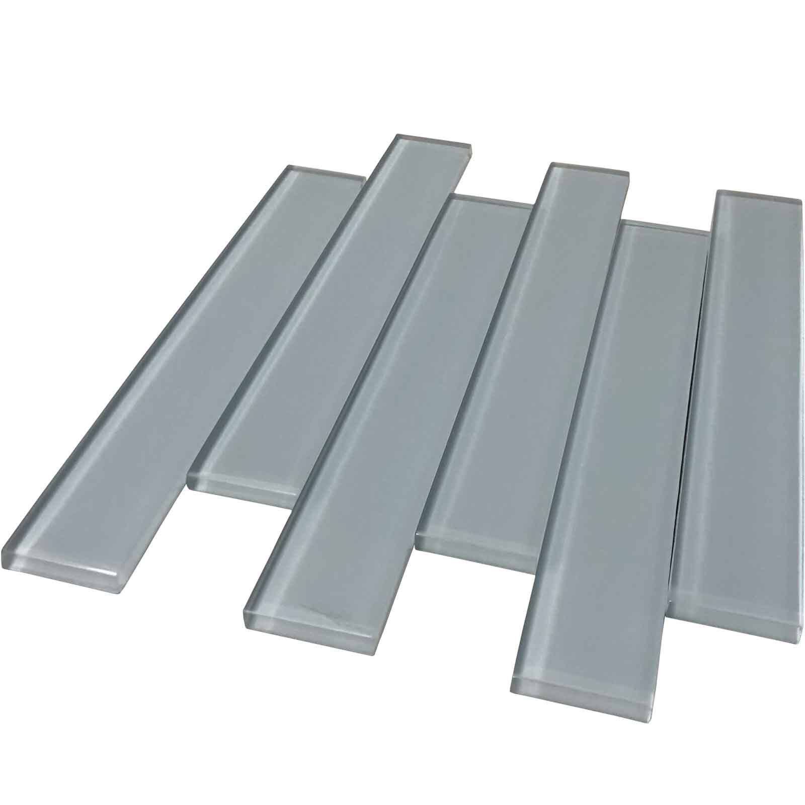 Pewter Glass Tile 2 X 12 Polished