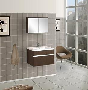 DreamLine DLVRB-103-WG Wall-Mounted Modern Bathroom Vanity with ...