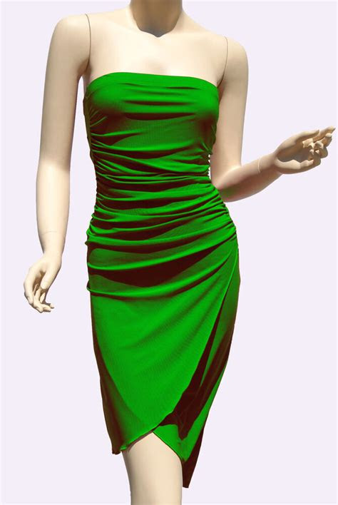 green strapless dresses party cocktail womens style