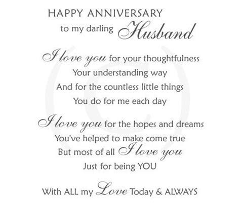 Anniversary wishes poems for husband   love   Pinterest