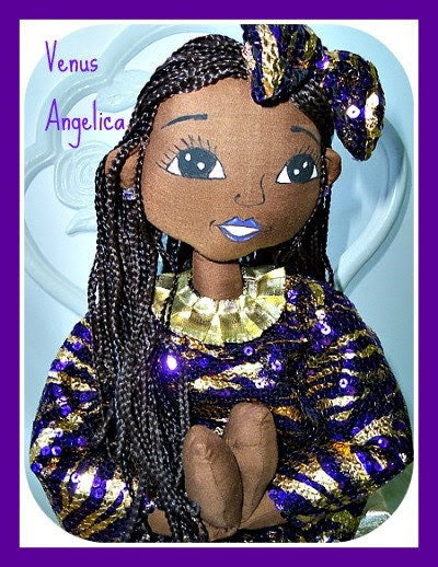 Hand crafted African American ooak doll