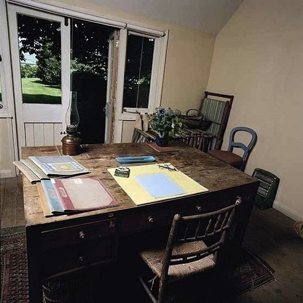 Virginia Woolf, novelist. | 40 Inspiring Workspaces Of The Famously Creative
