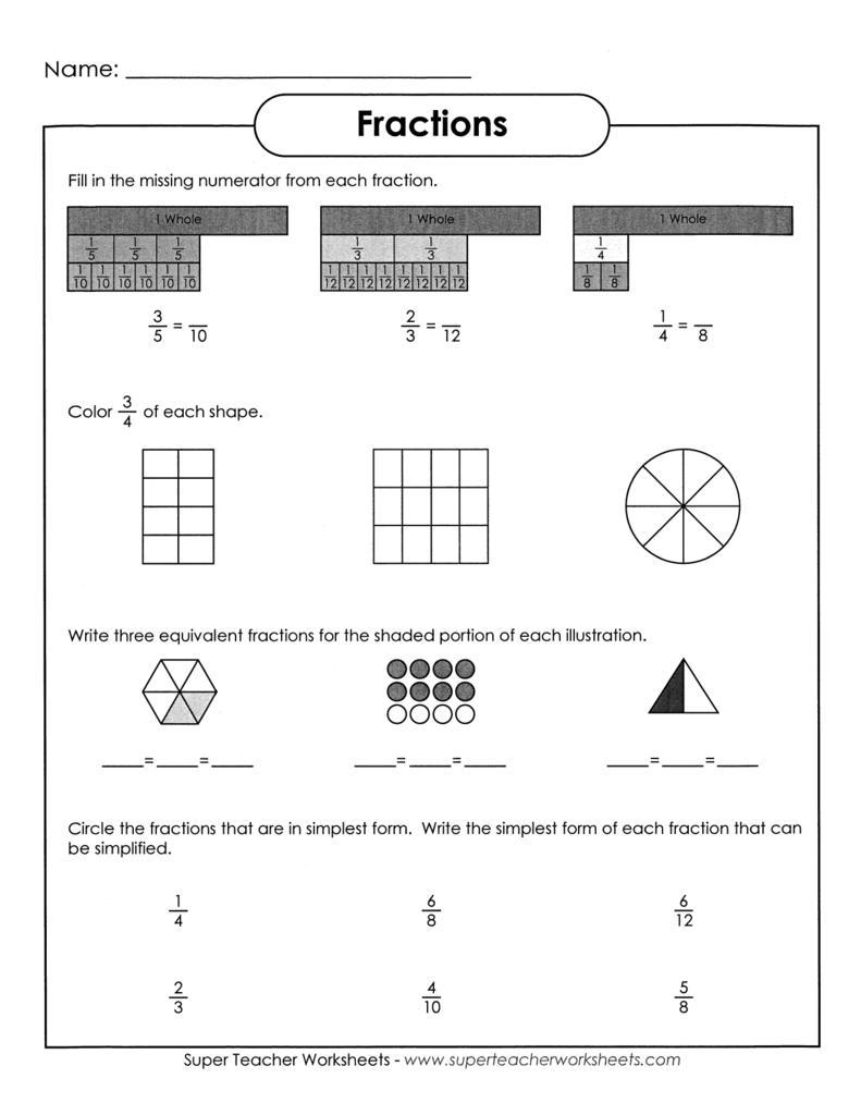 Worksheet Super Teacher Worksheets Fractions Grass Fedjp