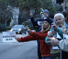 MoveOn members protesting the war in Iraq