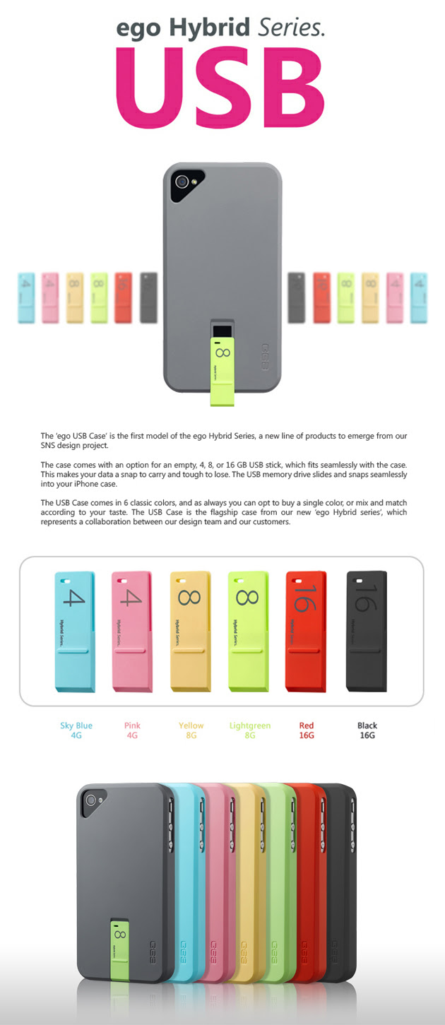 Ego USB Case for iPhone Holds a Memory Stick - iClarified