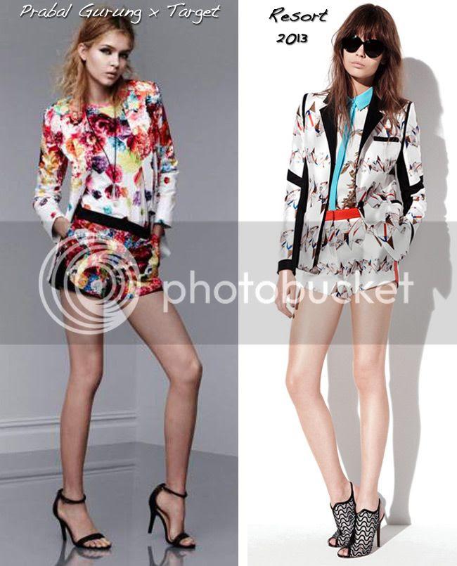 Prabal Gurung for Target blazer and shorts in Floral Crush print, Prabal Gurung resort 2013 shorts suit