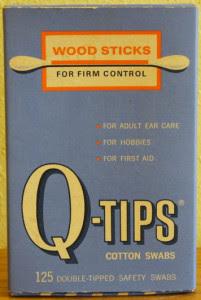 Vintage Q-Tip Box