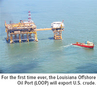 For the first time ever the Louisiana offshore oil port LOOP will export US crude
