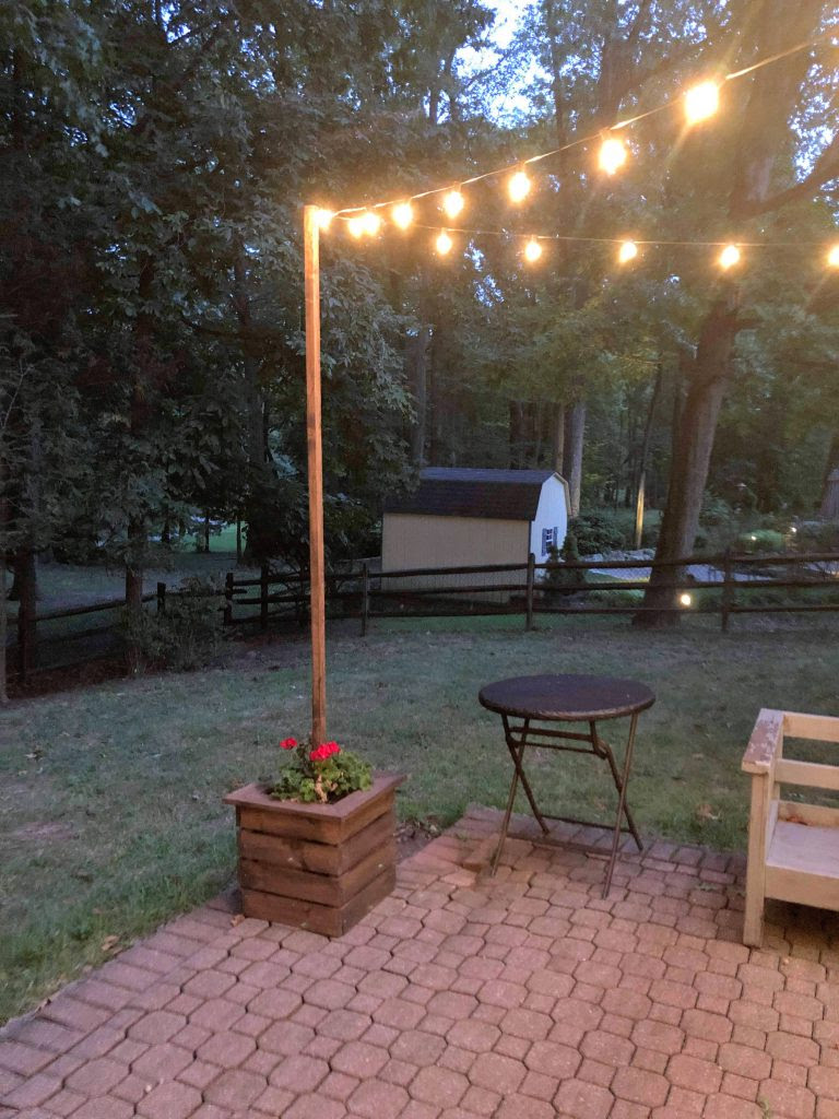 Diy String Light Poles And Planters This Homemade Heaven