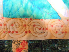 Anne's quilt - quilting detail