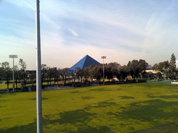A pic I took of the Walter Pyramid at Long Beach State, on January 5, 2013.