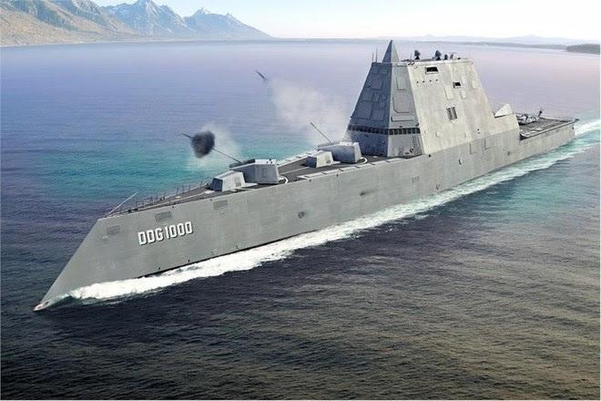 Hình ảnh Quái vật tàng hình của hải quân Mỹ lần đầu tiên bơi ngoài biển số 2
