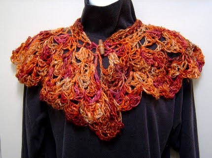 photo of wool and silk caplet