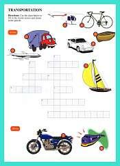 Transportation WordSearch For Kids