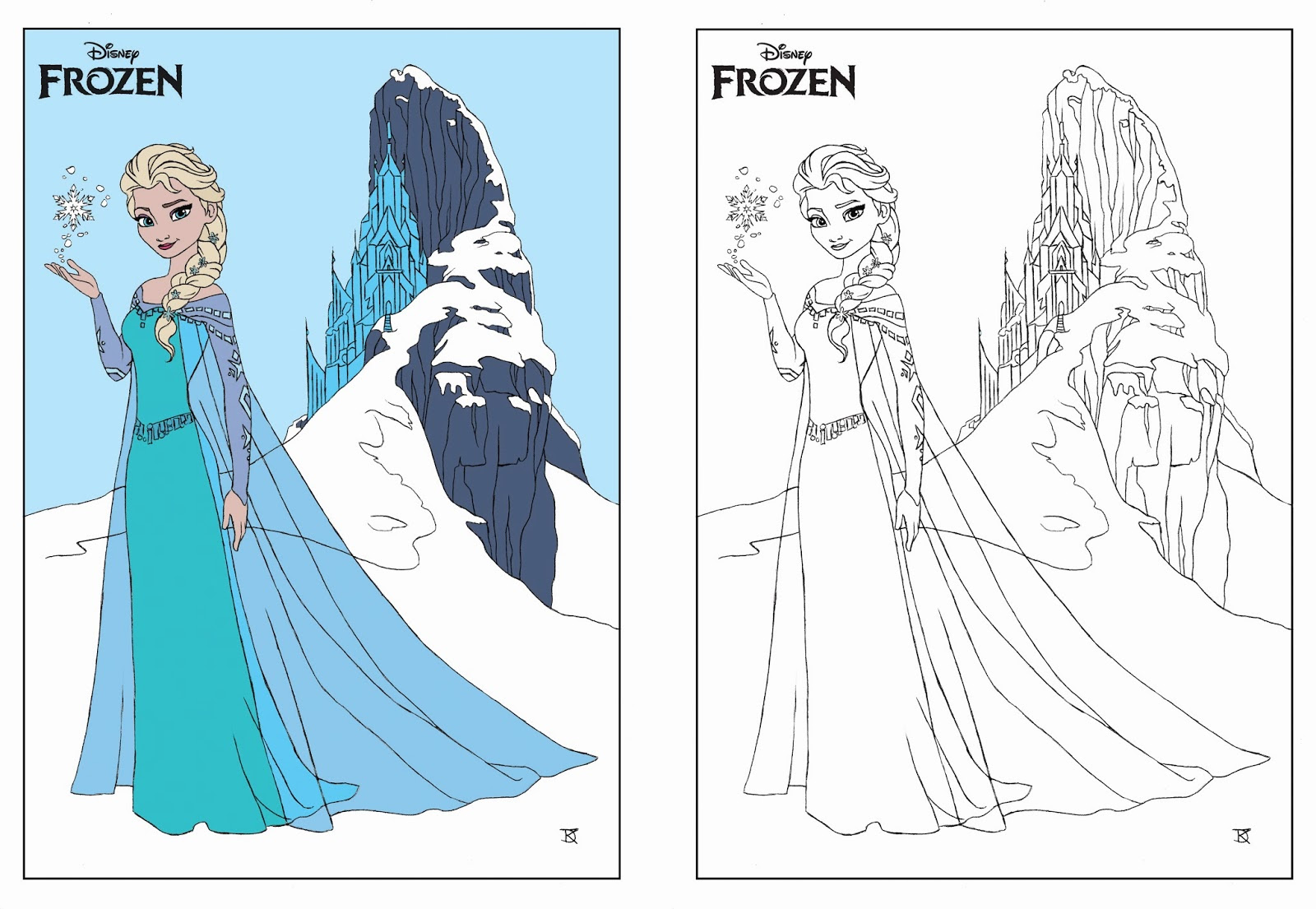 La Reine Des Neiges Elsa à Colorier