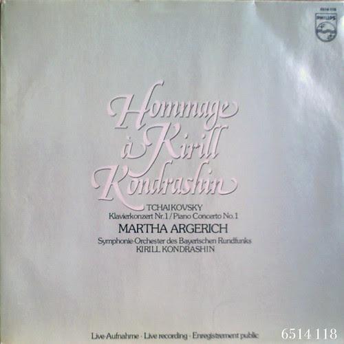 アマデウスクラシックス通販レコードの案内 - チャイコフスキー:ピアノ協奏曲No.1 マルタ・アルゲリッチ(ピアノ)、コンドラシン指揮バイエルン放送交響楽団