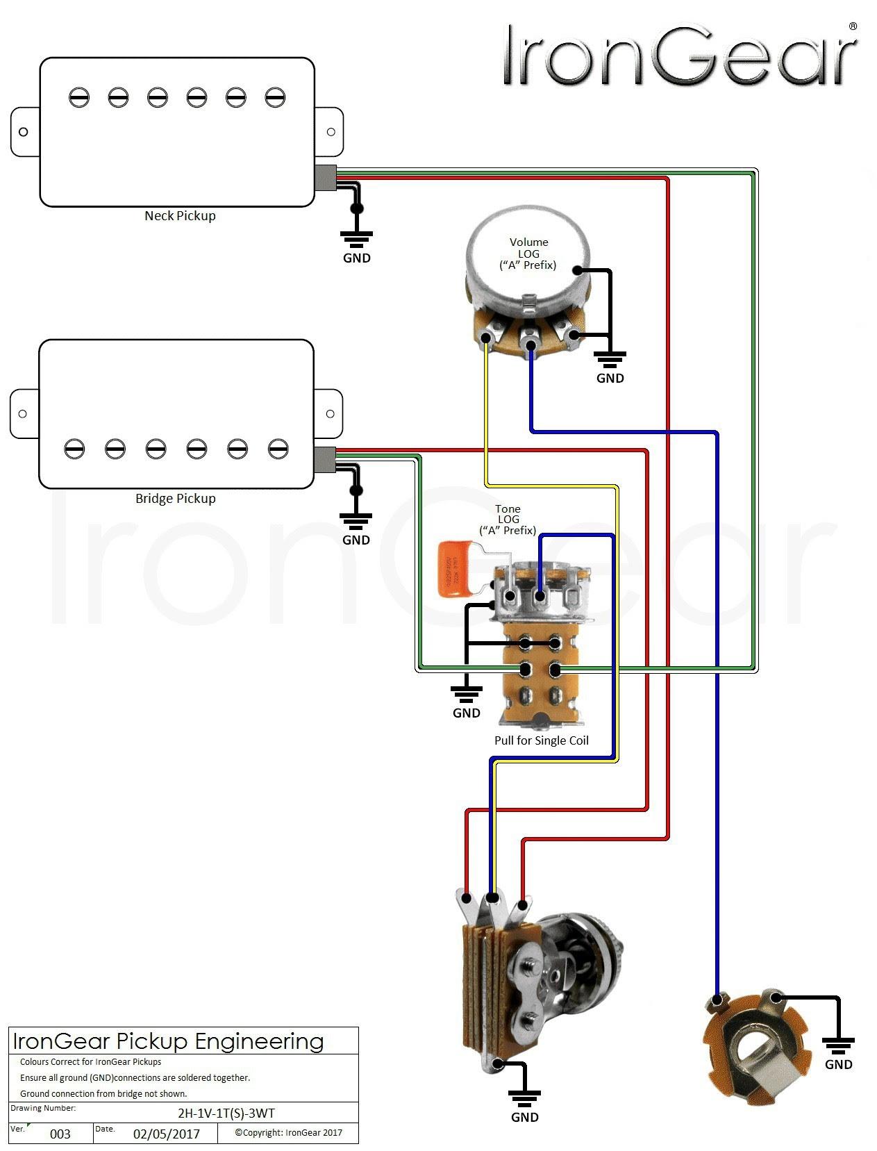 2 Humbuckers 1 Volume 1 tone Best Of   Wiring Diagram Image