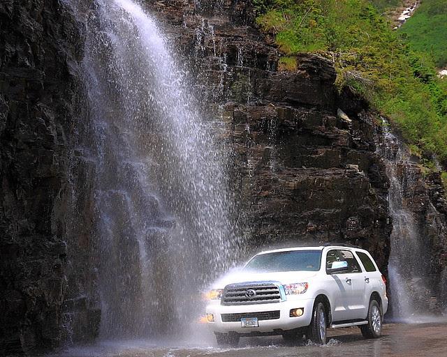 IMG_1616 Car Wash at Weeping Wall, Glacier National Park