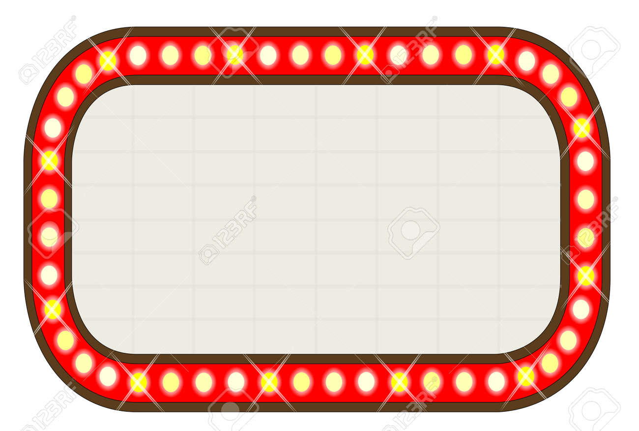 A Blank Movie Theatre Or Theatre Marquee Royalty Free Cliparts ...