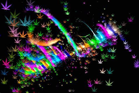 Weed Art   Colorful Fractal Joint Digital Art by Matthias