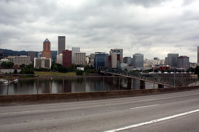 Downtown Portland from Marquam Bridge