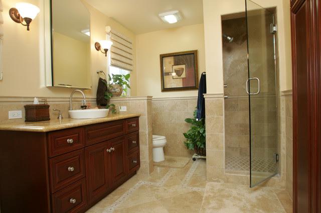 Tarzana Mediterranean Master Bathroom Remodel ...