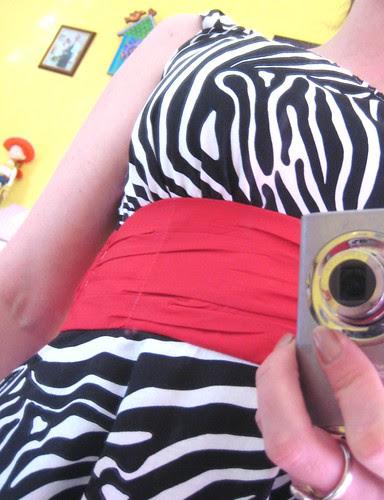 Zebra Sis Boom Jamie dress gathers