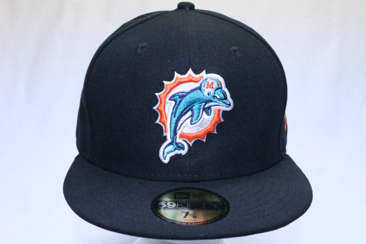 MIAMI DOLPHINS NFL NEW ERA 59FIFTY SIDELINE BLACK TEAM HAT CAP  eBay