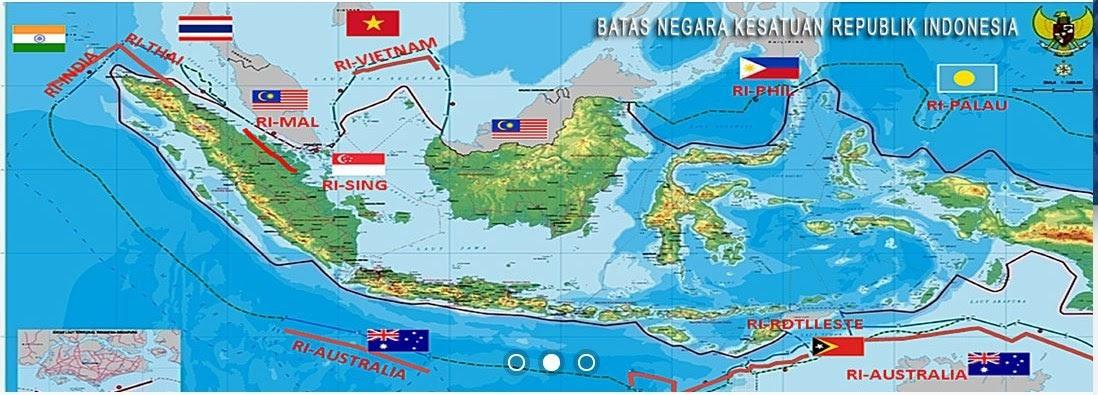 Batas Negara Indonesia Bagian Utara Selatan Barat Timur Berbagai Bagian Penting