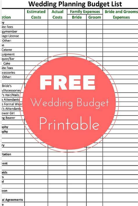 Get your FREE Wedding Planning Budget Checklist and