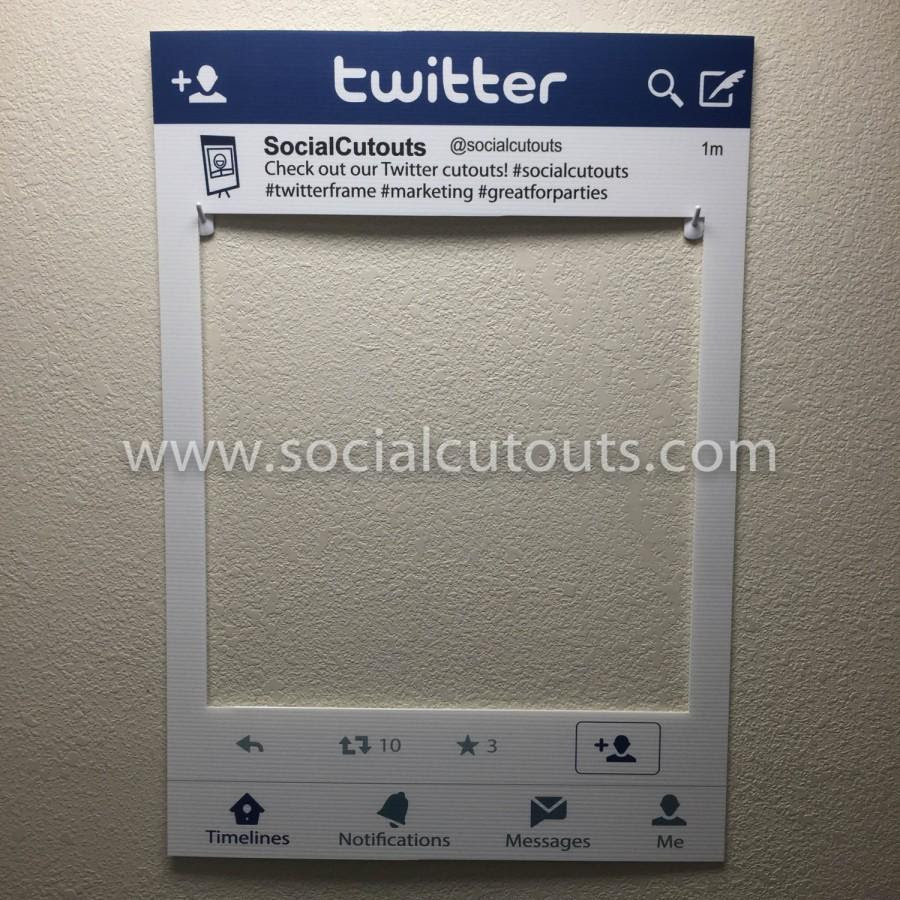 Large Printed Shipped Twitter Cutout Frame Prop 2396476 Weddbook