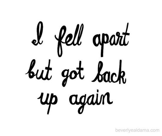 It doesn't matter how many times you fall...just get back up again.