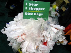 1 year of plastic shopping bags.
