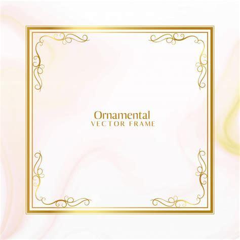 Impressionante design de moldura ornamental dourada