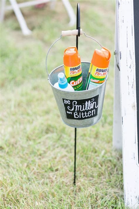 Be Smitten not Bitten Wedding Bug Spray Holder   McAndrews