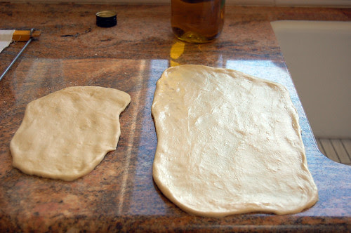naan rolled out