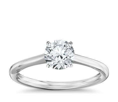 Petite Solitaire Engagement Ring in 14k White Gold   Blue Nile