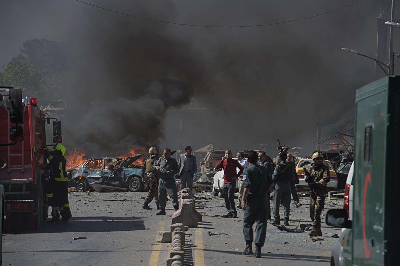 Image result for kabul truck bomb