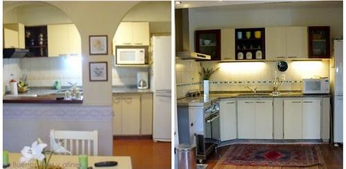 cozinha nova  antes e depois