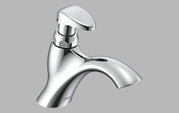 Lavatory Faucets Single Hole Metering Slow Close Bathroom Faucet