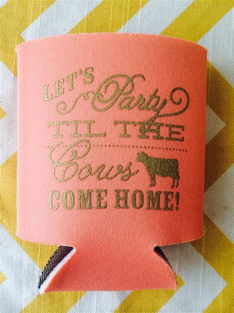 Let's Party Til the Cows Come Home can coolers, Farm