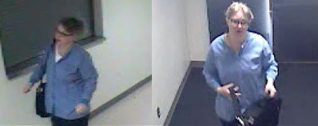 A woman impersonating a nurse whom police say entered Swedish Medical Center and attempted to steal pain medicine from the IV lines of two patients is seen in a still image taken from surveillance video taken in Seattle, Washington April 17, 2013. Police say the woman, who they believe is addicted to painkillers, appeared confident both in talking to hospital staff and in walking into patient rooms.   REUTERS/Seattle Police Department/Handout  (UNITED STATES - Tags: CRIME LAW HEALTH) THIS IMAGE HAS BEEN SUPPLIED BY A THIRD PARTY. IT IS DISTRIBUTED, EXACTLY AS RECEIVED BY REUTERS, AS A SERVICE TO CLIENTS. FOR EDITORIAL USE ONLY. NOT FOR SALE FOR MARKETING OR ADVERTISING CAMPAIGNS