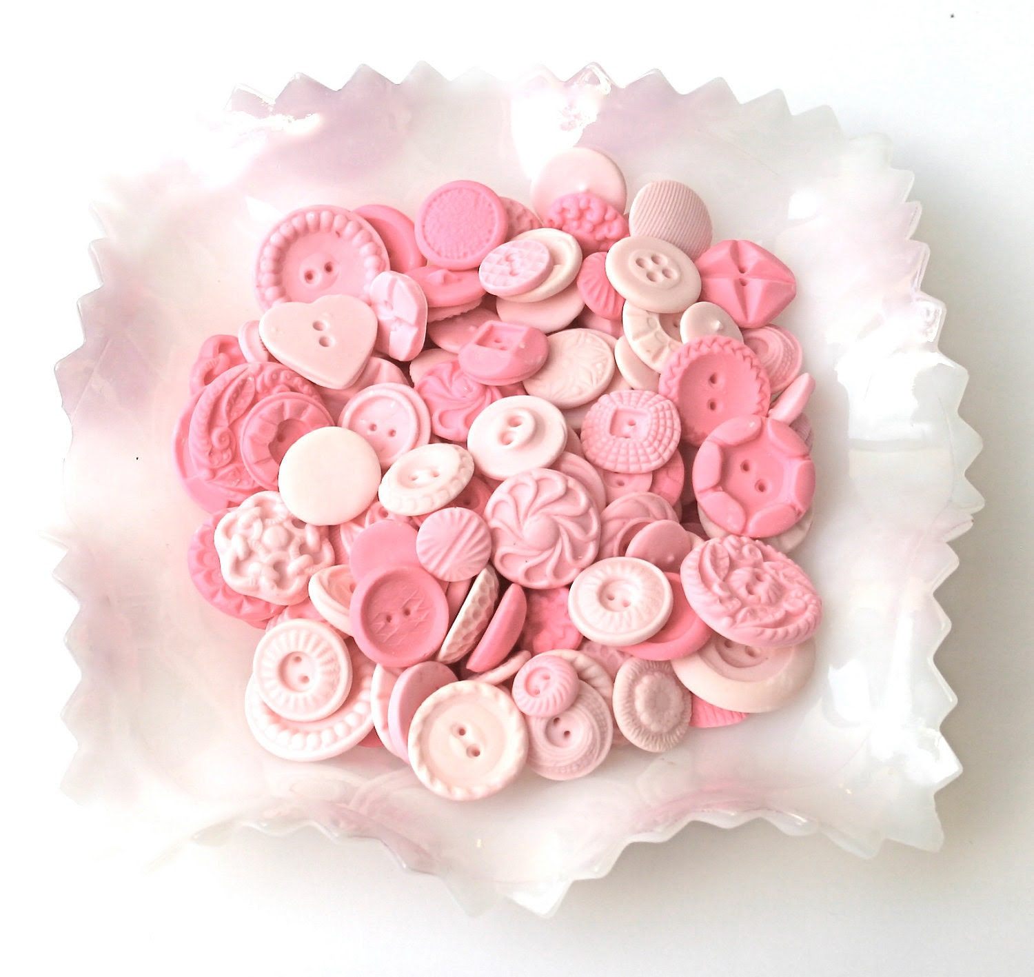 Tickled Peppermint Pink Candy Buttons 200