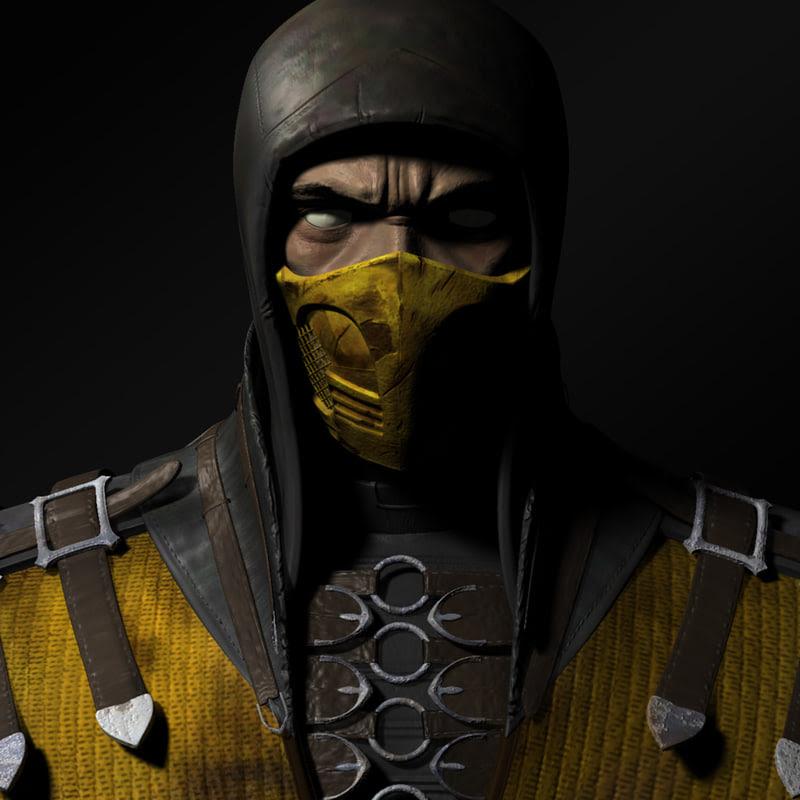 3d Scorpion Mortal Kombat Model